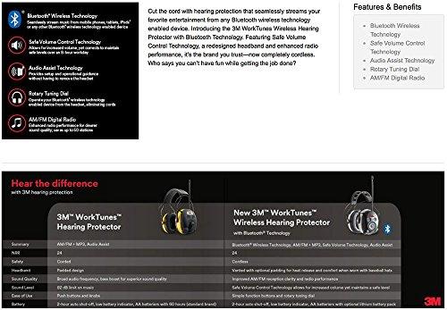 3M BLUETOOTH SNR 24db Digital Radio Gehörschutz Kopfhörer Gehörschützer hearing protector - 8