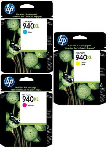 Preisvergleich Produktbild Hewlett Packard  940XL Colour Ink Cartridges - cyan/magenta/ gelb (Pack of 3) Genuine