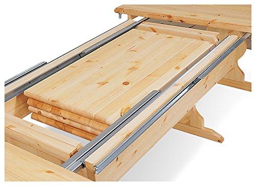 Arredamenti Rustici Tavolo fratino allungabile da 190 a 370 in legno ...