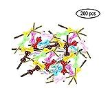 Funhoo 200er Set Twistband Metalldraht mit Schleife Bindebänder Twist Krawatten für Geschenkverpackung Lutscher Keks Schokolade Tüten Dekoration (Sortierte Farbe)