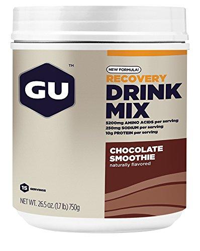 GU Recovery Drink Mix, Chocolate Smoothie (Schokolade) - Kohlenhydrat-Protein-Getränkepulve, 750 g Dose -