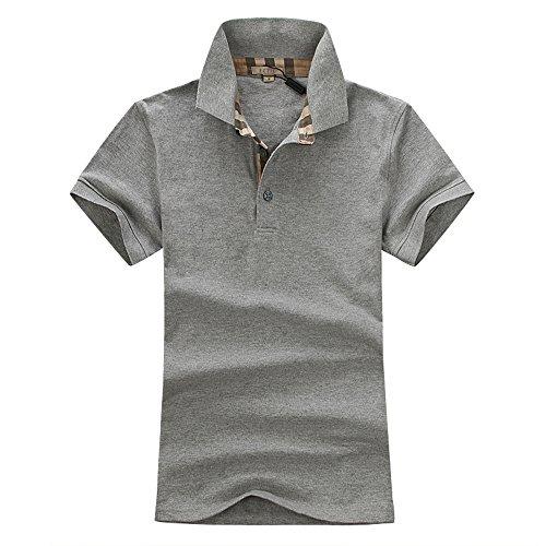 ECTIC 2017 New Men's 100% cotton Uomo Business Polo shirt Polos SIZE S-XXL B93264 Grey