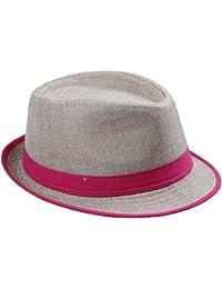 EOZY Sombrero Gorro De Mujer Hombre En Viaje Playa Para El Verano Sol Rayas De Neón (#1 Fucsia)