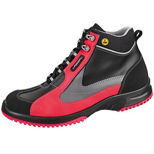 ABEBA uni6 Berufsschuh Küchenschuh 31790 31792 S2 ESD, modischer Schuh für Sie und Ihn küchengeeignet schwarz/red