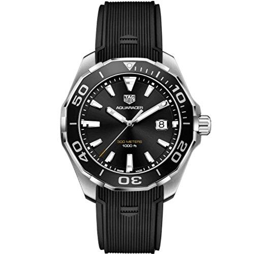 TAG Heuer Aquaracer Reloj de Hombre Cuarzo 43mm Correa de Goma WAY101A.FT6141