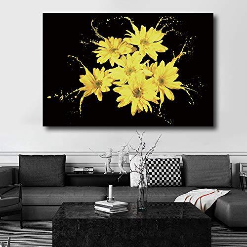 RTCKF Tela di crisantemo su Poster Stampa Soggiorno Decorazione della Parete di casa Artista residenza Decorazione (Senza Cornice) A6 70x100cm
