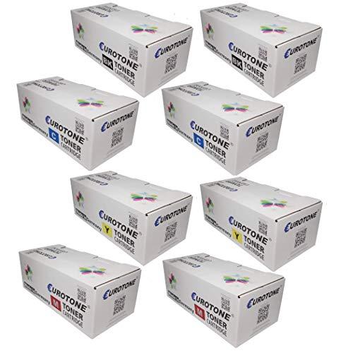 8X Eurotone Toner für Ricoh Aficio CL 4000 wie TYPE145 TYPE245 Set Schwarz Blau Rot Gelb -