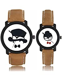 ISmart Analogue Round Dial Faux Leather Strap Casual Men's Wrist Watch Combo Pack Of 2