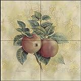 Fliesenwandbild - Äpfel 2 - von Richard Henson - Küche Aufkantung/Bad Dusche
