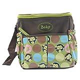 XMDZ Wickeltasche Baby Mama Tasche mit Fächer Damen Multifunktional Nylon Schultertasche Handtasche Verstellbarer Schulterriemen Große Kapazität Cute Affe Grün