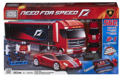 Preisvergleich Produktbild Mega Bloks 95760 - Need For Speed - Build & Customize Rig (1:38 Lamborghini Gallardo)
