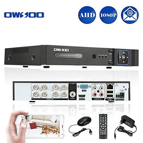 OWSOO 8CH Netzwerk DVR( h. 264 1080N P2P) Netzwerk Video Recorder CCTV Sicherheit Handy Kontrolle Motion Detection E-Mail Alarm für Überwachungskamera