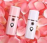 SAYT Tragbare Gesicht Luftbefeuchter Gesichts Nano Schönheit Feuchtigkeitsspendende Instrument Mini Wasser Make-Up Zerstäuber Weiß,White