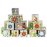 Papierdrachen DIY Adventskalender Kisten Set - Motiv Cozy Christmas - 24 Bunte Schachteln aus Karton zum Aufstellen und zum Befüllen - 24 Boxen - Weihnachten 2018