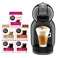 Nescafe Dolce Gusto Mini Me Coffee Machine (with 5 Capsule Boxes), Black, 2 Year Manufacturer Warranty
