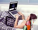 Lavolta Ergonomisch Notebook Laptop Ständer Tisch Bett Frühstück Tablett - Ausklappbare Ebenen - Aluminium - Schwarz - 6