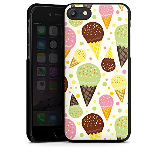 Apple iPhone X Silikon Hülle Case Schutzhülle I love Icecream! Sommer Grafik Hard Case schwarz