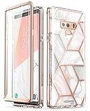 i-Blason Hülle Kompatibel für Samsung Galaxy Note 9 Marmor 360 Grad Handyhülle Bumper Case Glitzer Schutzhülle Cover [Cosmo] mit integriertem Displayschutz, Marmor