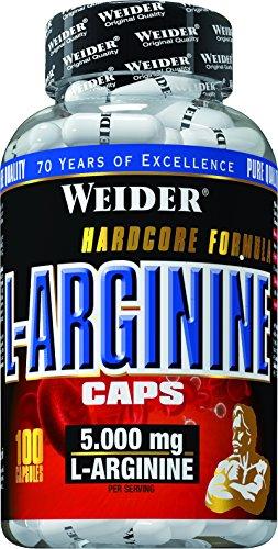 Weider, L-Arginine Caps, Neutral, 1er Pack (1x100 Kapseln)