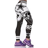 SYPNB Polainas de Las Mujeres otoño e Invierno Pantalones de una Sola Pieza de impresión Digital 3D Pantalones de Cintura Alta,S