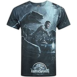 Hombres - Official - Jurassic World - Camiseta (M)