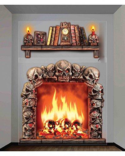 Horror-Shop 2-tlg. Halloween Wandfolie Kaminzimmer Dekoration