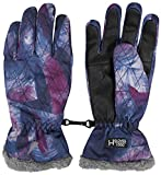 OUTHORN Ski-Handschuhe Snowboard Ski Wintersport Thermo Winter Outdoor Damen, schön warm für kalte Tage, Membrane: HYDROOPILE GLOVES 1 000 RED603 SW16 (Abstrakt, XL)