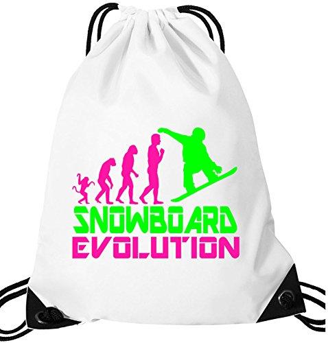 EZYshirt® Snowboard Evolution Turnbeutel