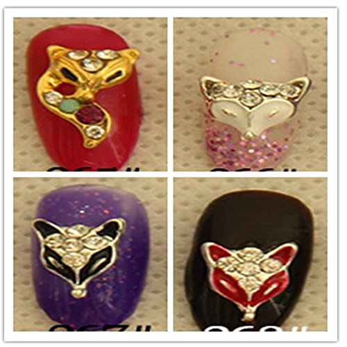 Evtech(tm) 12 PC Nail Sticker Strass cristal gemmes de diamant animaux alliage d'argent Fashion Style 3D Nail Art Outil Carve Nail Sticker Décoration Sticker Glitter Tatoo (ne pas inclure le bout d'ongle)
