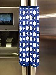 مجموعة أغطية لمقبض الثلاجة بتصميم منقط من بلاستيك البي في سي من كوبر اندستريز، مكونة من قطعتين، ازرق سماوي، 35