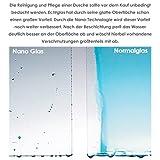 90x195cm Duschabtrennung Duschtür Nischentür Echtglas mit Nanobeschichtung (HN90-2E V2+1B V2) Test