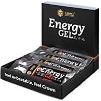 Crown Sport Nutrition 12 x Energy Gel + Cafeína (40g), Gel energético textura