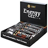 Crown Sport Nutrition 12 x Energy Gel + Cafeína (40g), Gel...