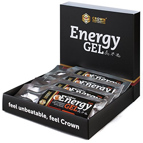 Crown Sport Nutrition 12 x Energy Gel + Cafeína (40g), Gel energétic