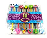 Evisha Set of 12 Pencils with Eraser top...