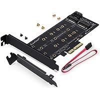 supageek doble M.2a PCIe 3.0X4y SATA III adaptador tarjeta–para añadir dispositivos M.2SSD a PC o Motherboard, soporta una M.2PCIe 3.0SSD (M de Key) y segunda M.2SSD SATA III (B Key)