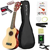 Soprano Ukulele Beginner Kit - 21 Inch w/ How to play Songbook Carrying bag Digital Tuner All in One Set