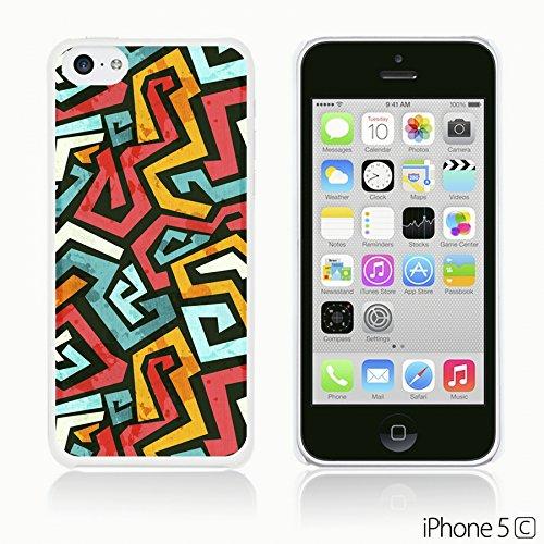 OBiDi - Geometrical Pattern Hardback Case / Housse pour Apple iPhone 5C - Funny Tribal Print Colorful Maze