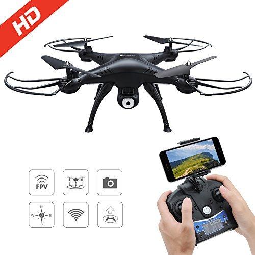 DeeXop 2.4 GHz 4 CH 6 Ejes Gyro Control Remoto Quadcopter FPV WiFi Plegable 2 MP HD cámara 3D Flip RC Drone, Color Blanco