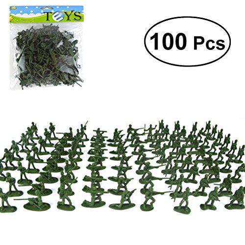 TOYMYTOY Armee Figuren Soldaten Modell Set für Kinder Lernspielzeug 100 Stücke (Zufällige Farbe) (Kunststoff-militärs)