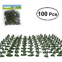 YeahiBaby Figuras de Soldados de Plástico Modelo Estático para Niños 100 Piezas ...