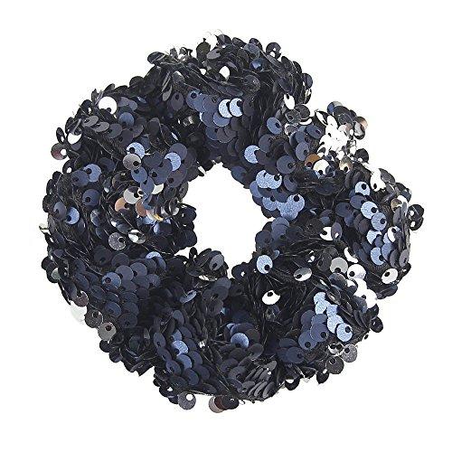 Haarbands,Sasstaids Mädchen Headwear elastische Haarbänder Pailletten Ornament Ringe Haargummibänder