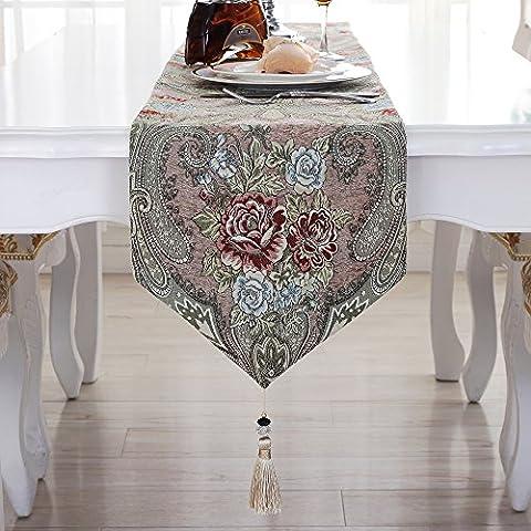 Tabella bandiera continentale cinese di lusso tovaglie American village ciniglia cabinet tv tavolino panno wild bed end ,3,32*210cm asciugamano