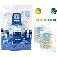 "20g [15paquetes] ""Dry & dry Food Safe naranja que indica (naranja a verde) oscuro Gel de sílice paquetes–FDA"