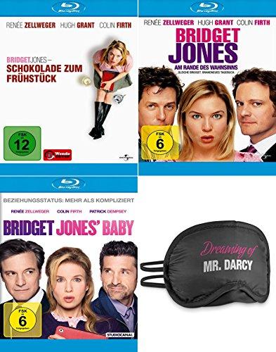 Bridget Jones - Schokolade zum Frühstück + Am Rande des Wahnsinns + Baby   + Schlafbrille   3-Filme Collection