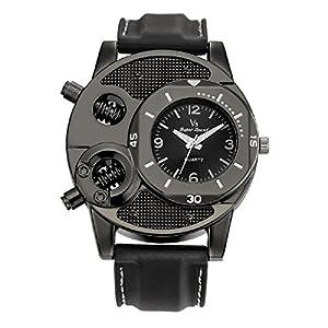 V6 Analogue Black Dial Men's Watch (348)