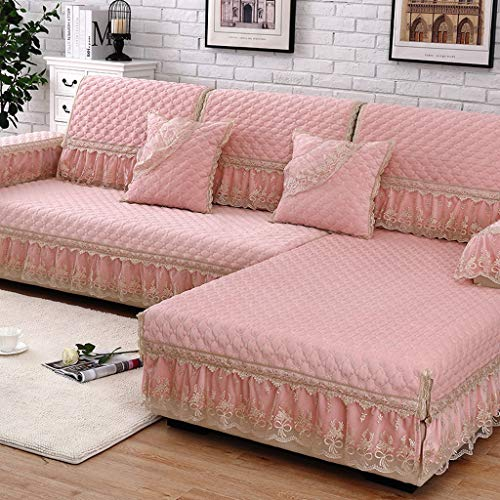 H.l cuscino per divani antiscivolo europeo tessuto antiscivolo fodere per divano in pelle scamosciata traspirante universale four seasons (colore : c, dimensioni : 70×180cm)
