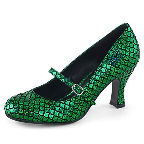 Higher-Heels Funtasma Damen Meerjungfrau Schuhe Mermaid-70 grün Gr.39 EU Gala-peep-toe-pump