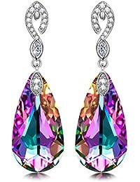 Kate Lynn Women Rhodium Plated Crystal from Swarovski Sea Star Drop Dangle Earrings Nickel Free Passed SGS test