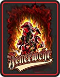 Original RAHMENLOS Lizenz Blechschild: Offizielles Logo Feuerwehr